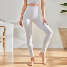 Wide Band Waist Seamless Sports Leggings