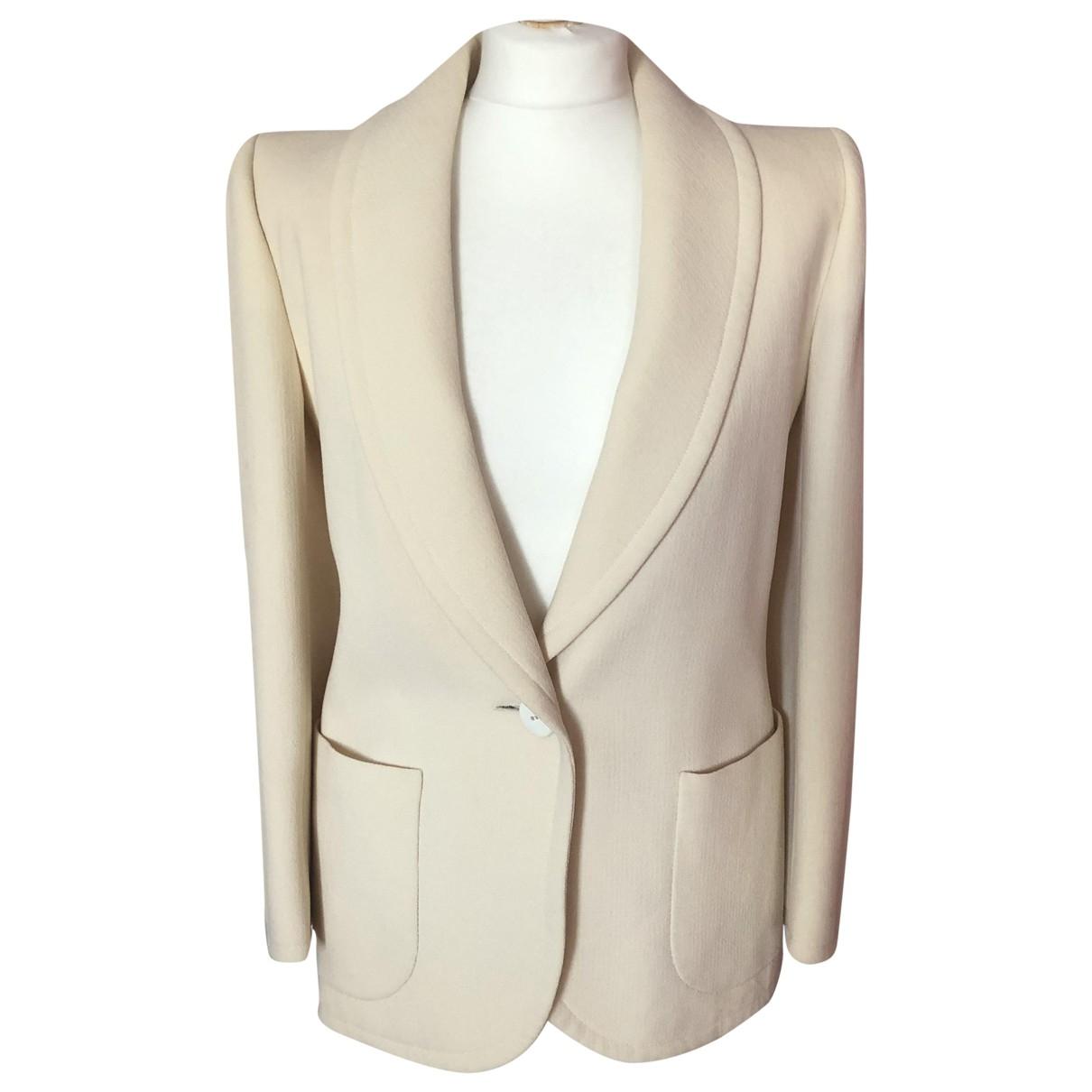 Yves Saint Laurent - Jupe   pour femme en laine - blanc
