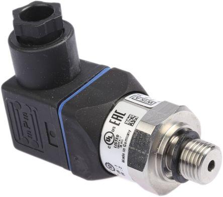 WIKA Hydraulic Pressure Sensor 12719260, 4-Pin L-Plug, 4 → 20mA, 0bar to 10bar
