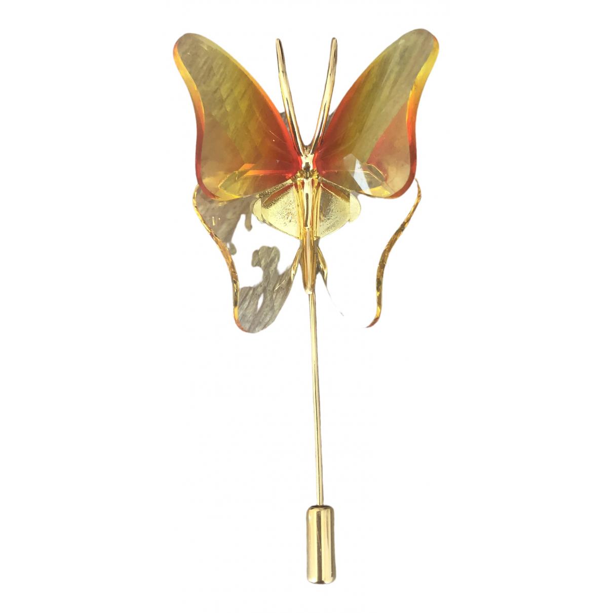 Swarovski - Broche   pour femme en plaque or - orange