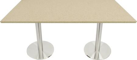 Q407 30X72-SS14-17D 30x72 Cambrian Gold Quartz Tabletop with 17
