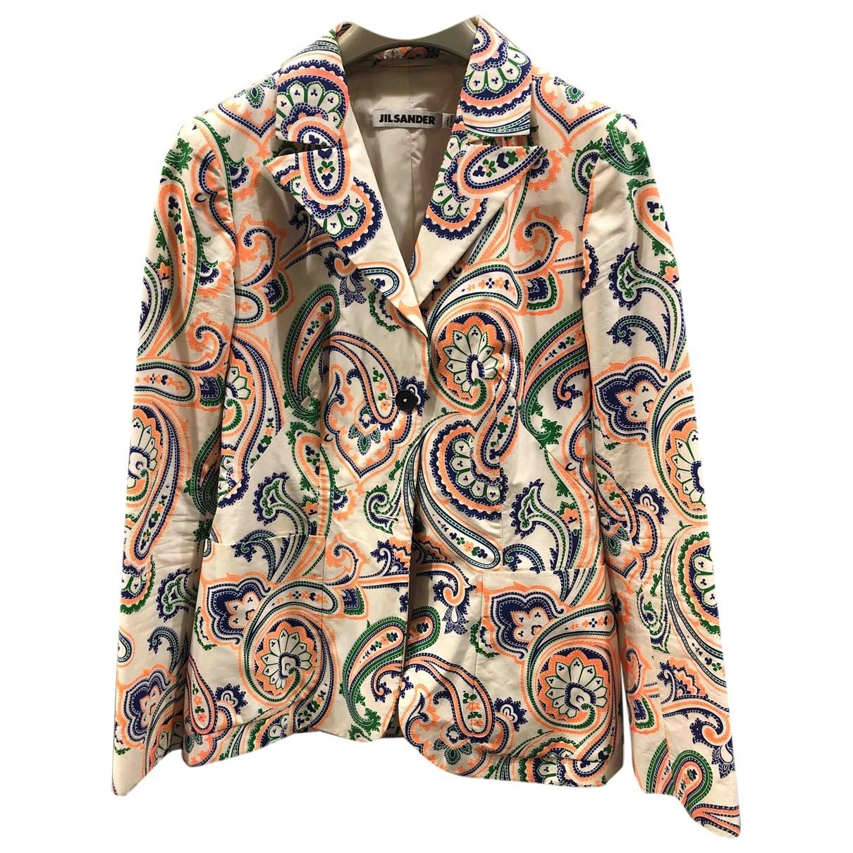 Jil Sander - Veste   pour femme en coton - blanc
