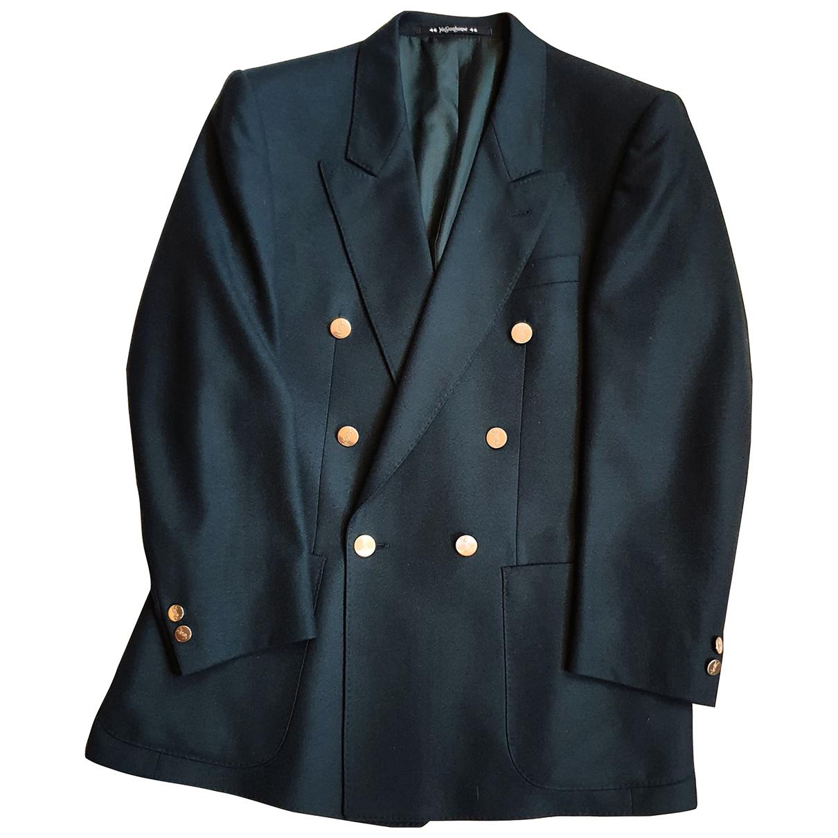 Yves Saint Laurent \N Anzuege in  Gruen Wolle