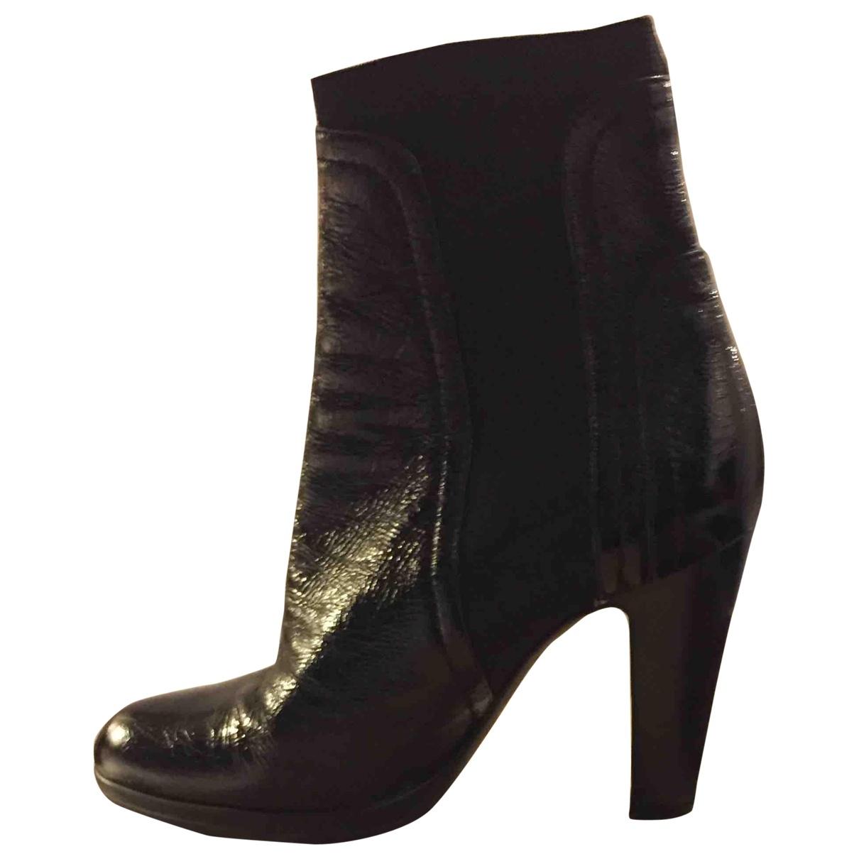 Sergio Rossi - Boots   pour femme en cuir verni - noir