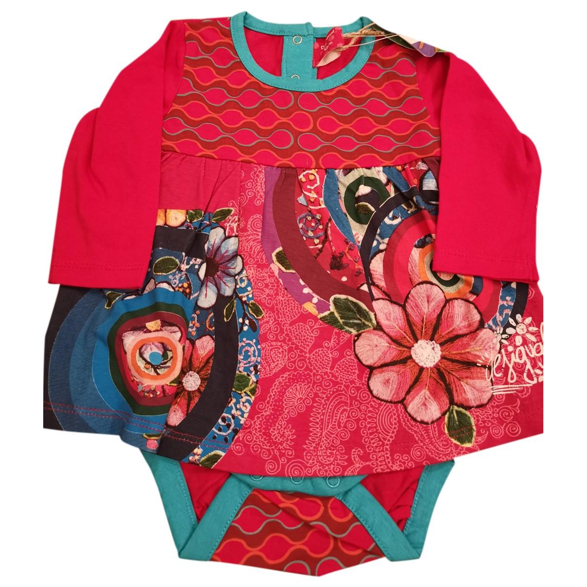 Desigual \N Kleid in  Rosa Baumwolle