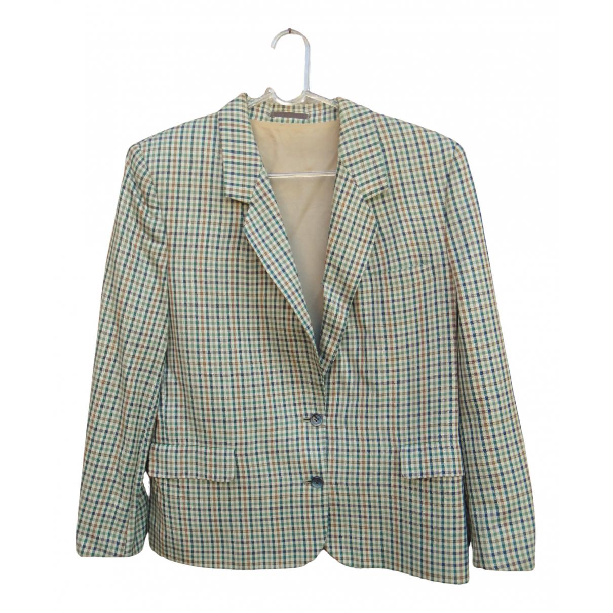 Burberry - Veste   pour femme en laine - vert