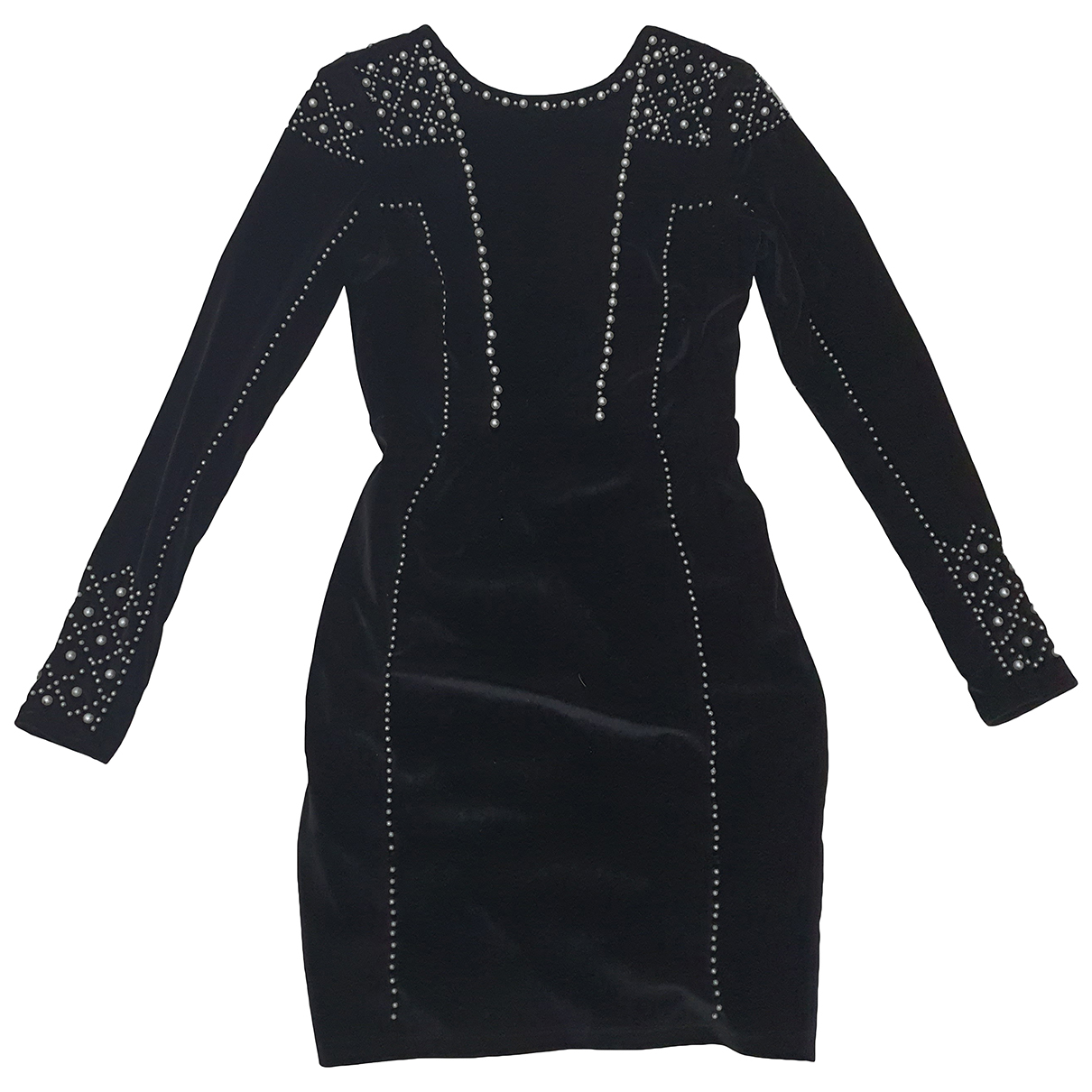 - Robe   pour femme en velours - noir