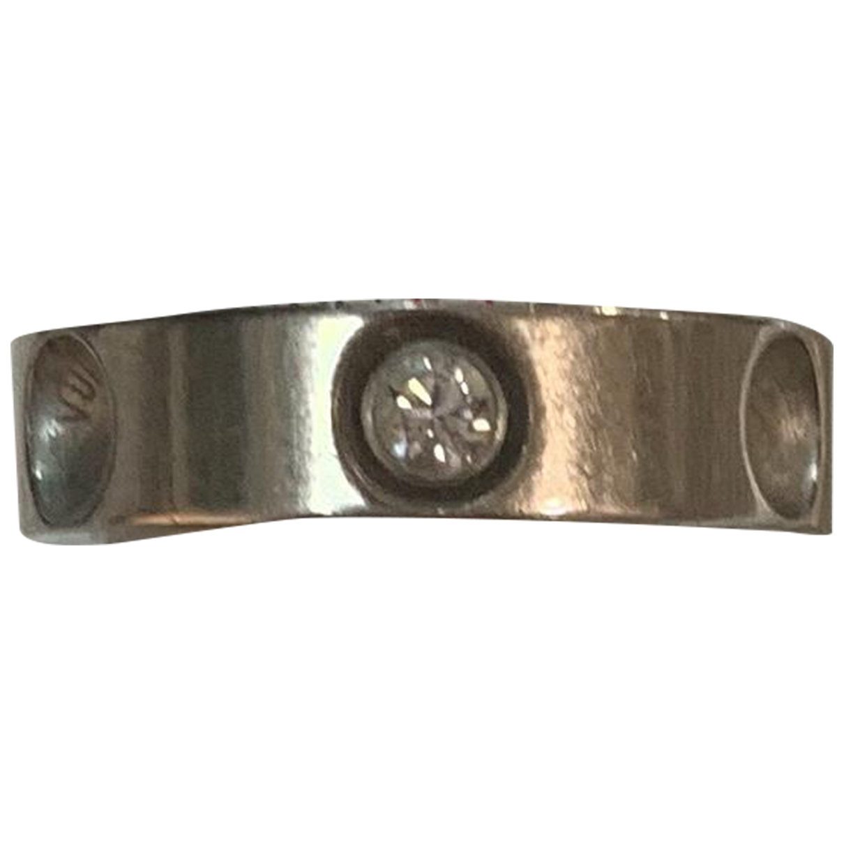 Louis Vuitton \N Ring in  Weiss Weissgold