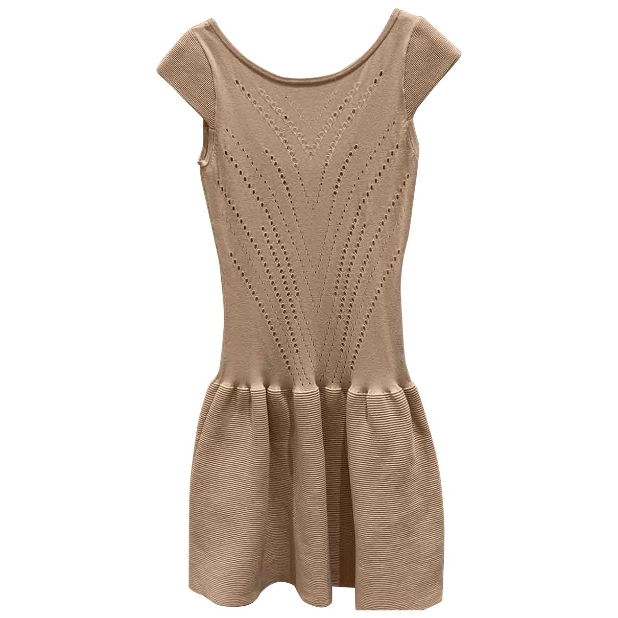 Maje \N Pink Cotton - elasthane dress for Women 40 FR