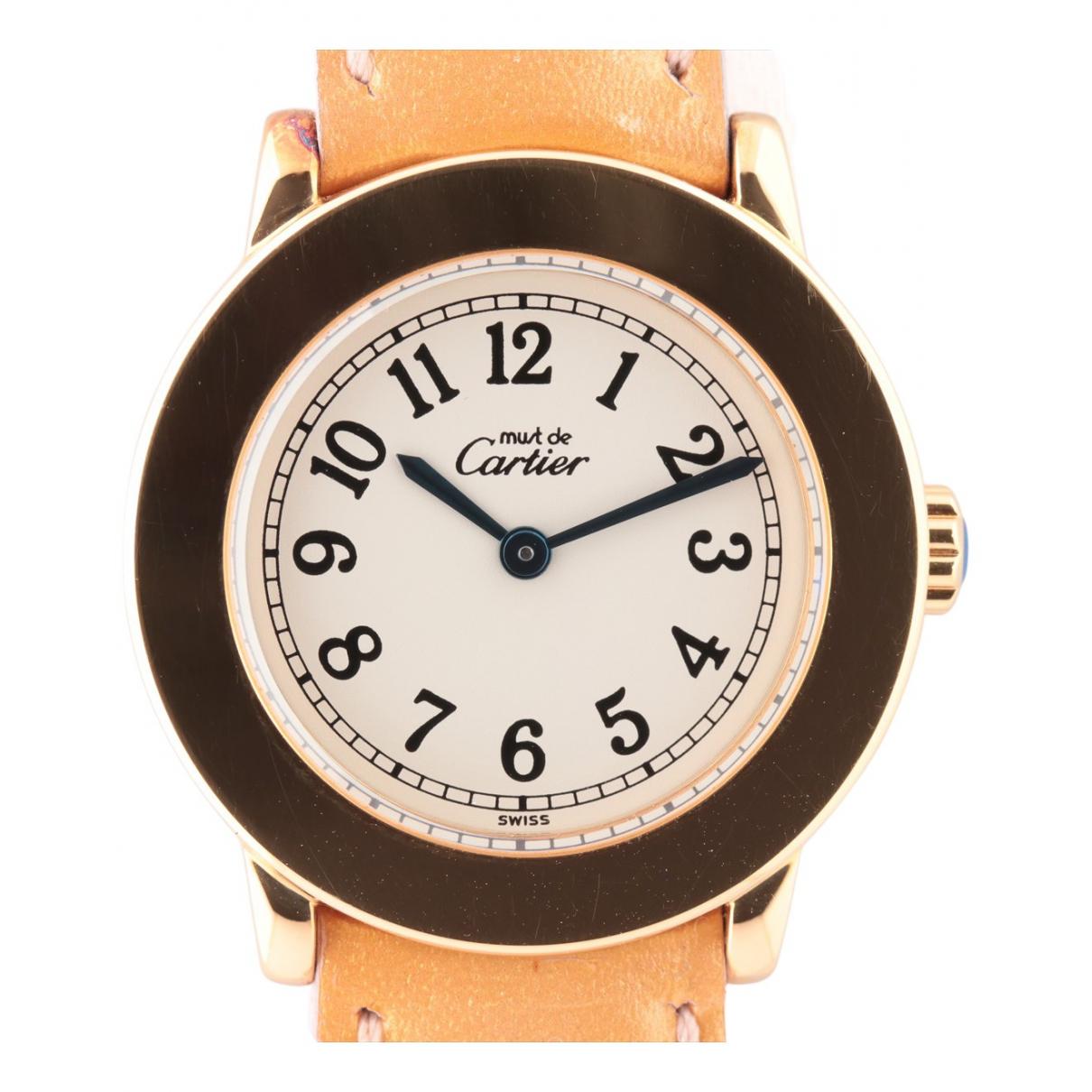 Cartier N Silver Gilt watch for Women N