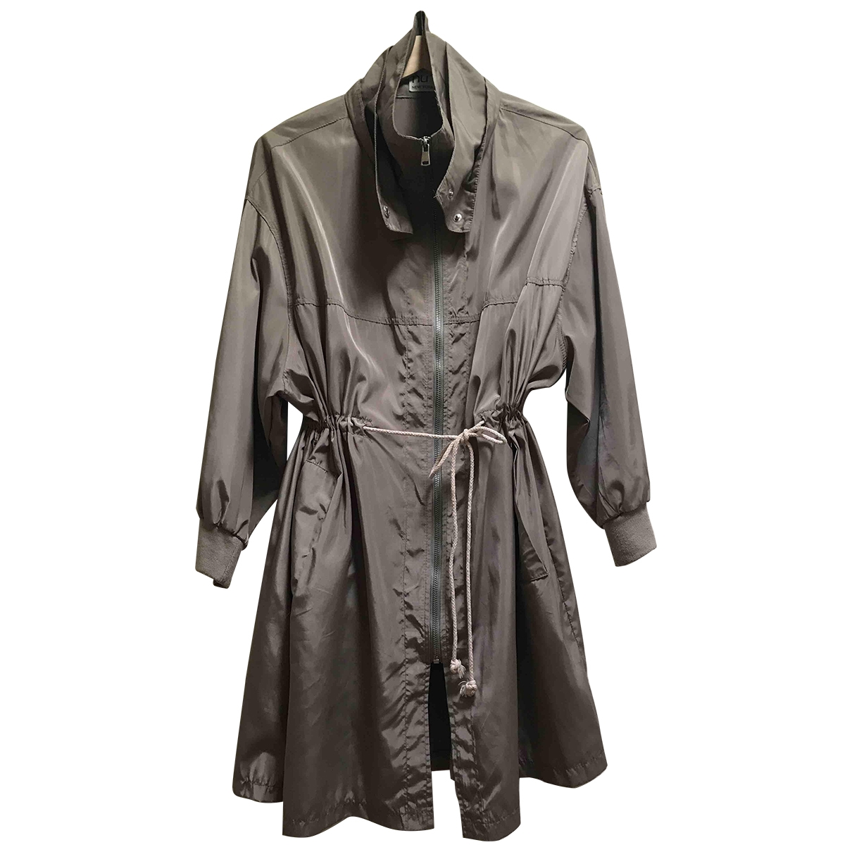 Non Signe / Unsigned Oversize Jacke in  Beige Polyester
