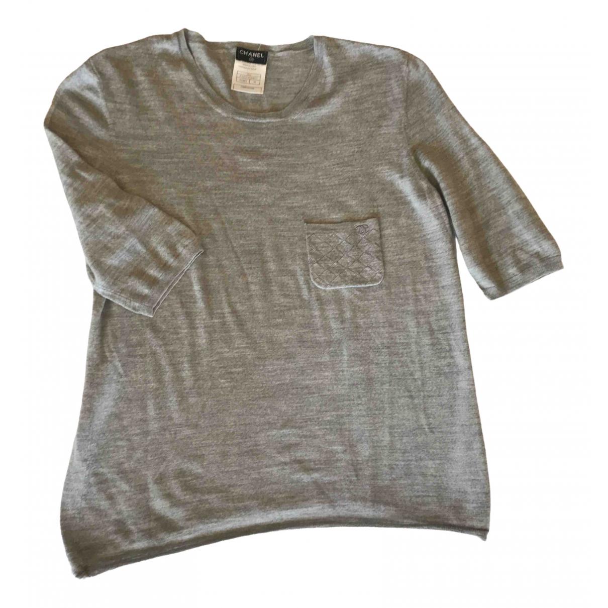 Chanel - Top   pour femme en laine - gris