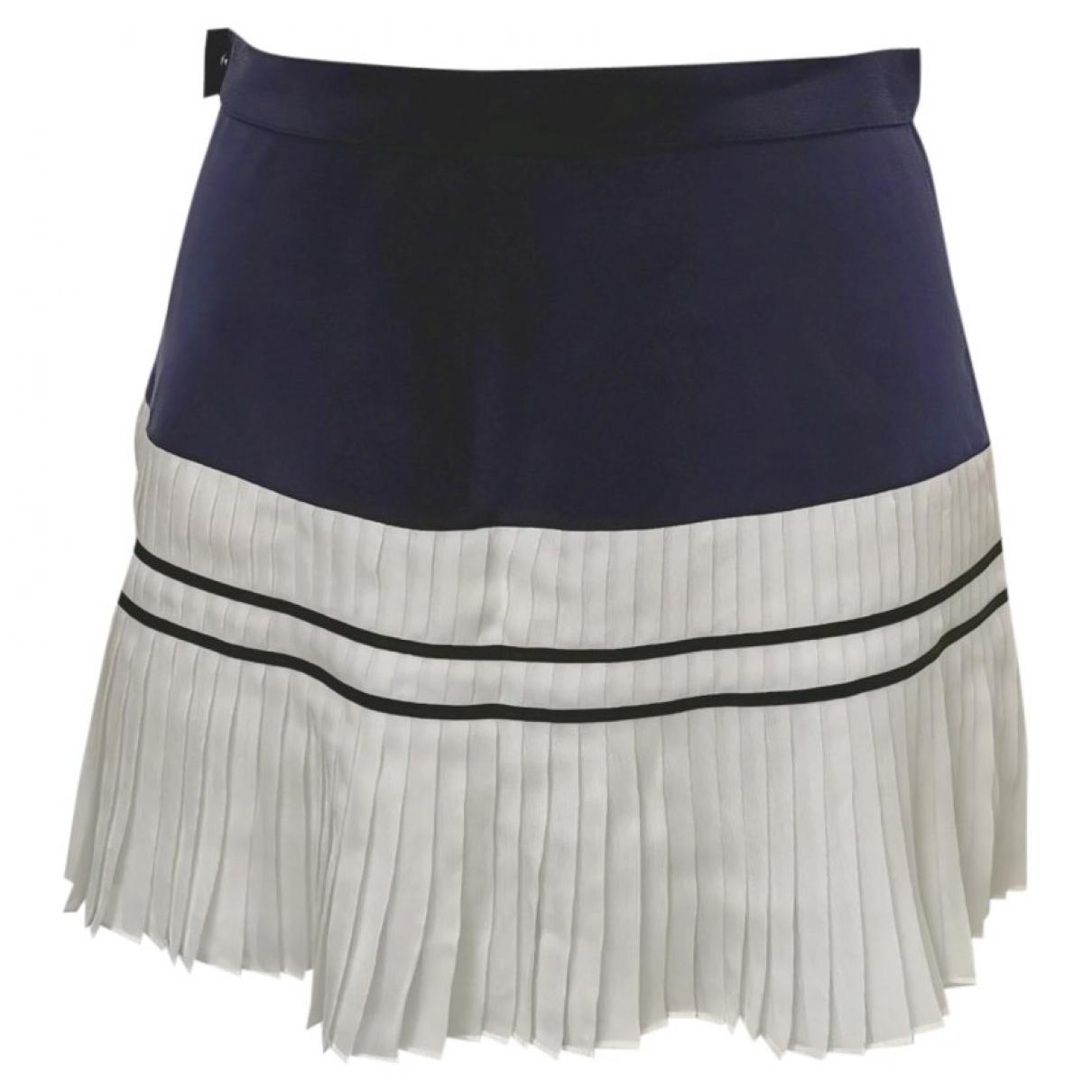 Chanel \N Blue Silk skirt for Women 38 FR