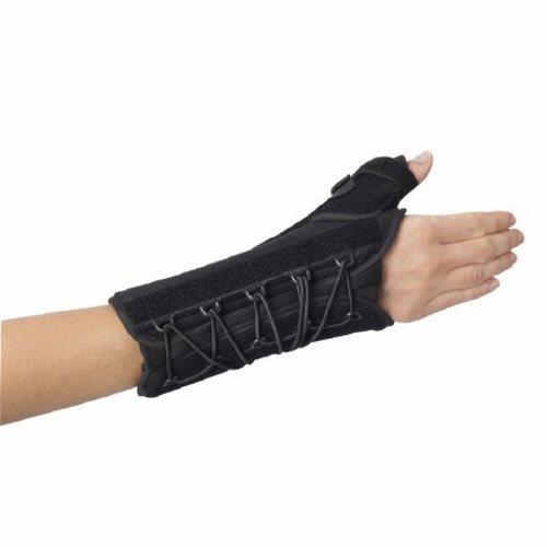 Wrist / Thumb Support Splint Quick-Fit W.T.O. Nylon / Foam Right Hand Black One Size Fits Most - 1 Each by DJO