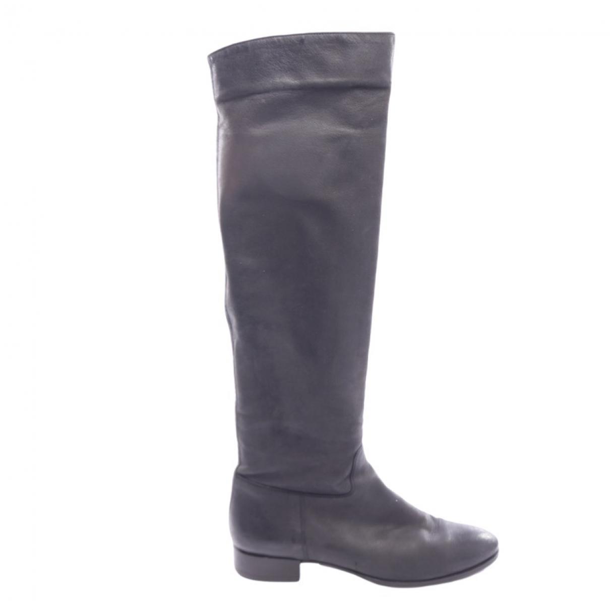 Santoni \N Black Leather Boots for Women 38 EU
