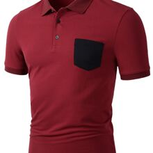 Guys Pocket Patched Polo Shirt