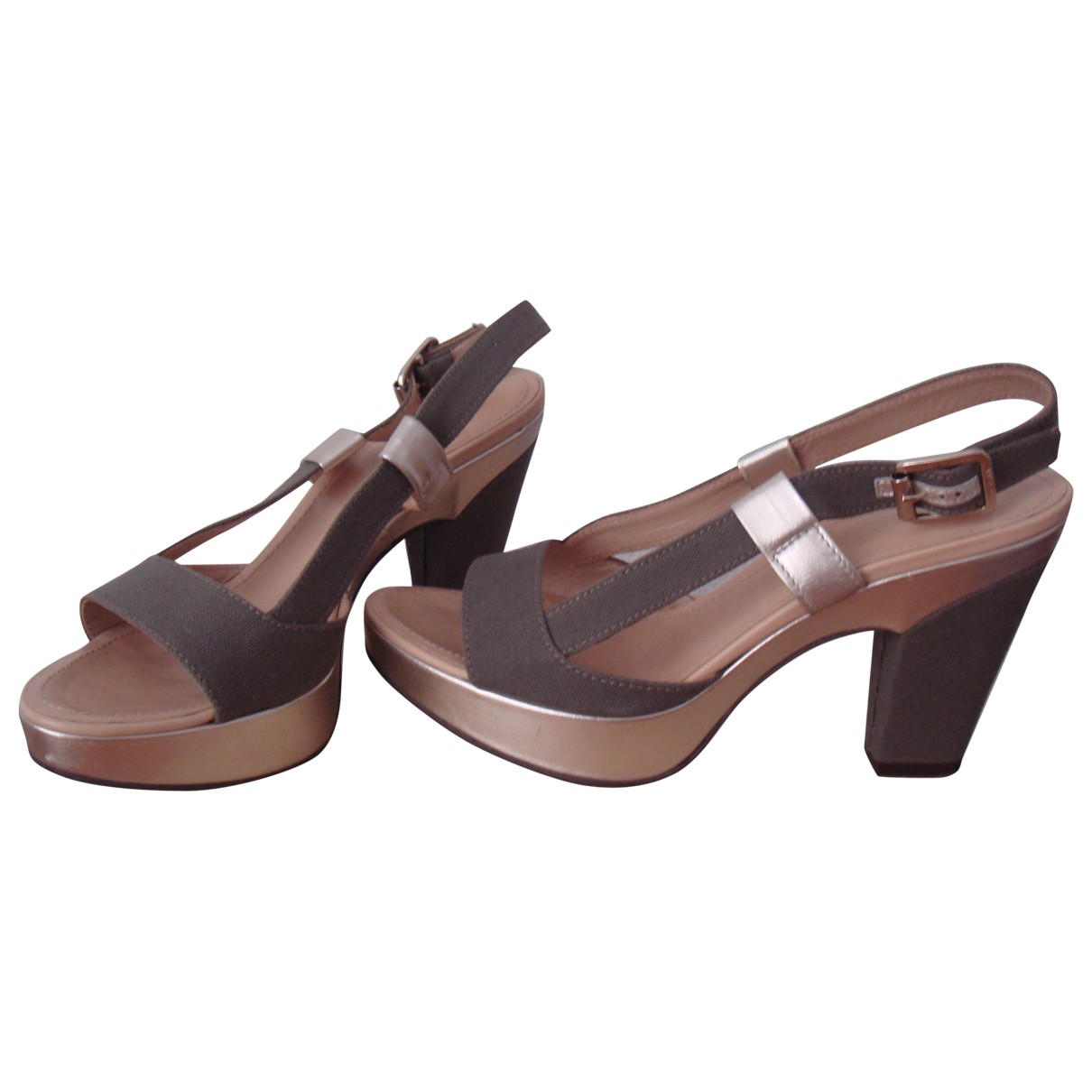 Hogan - Sandales   pour femme en toile - gris