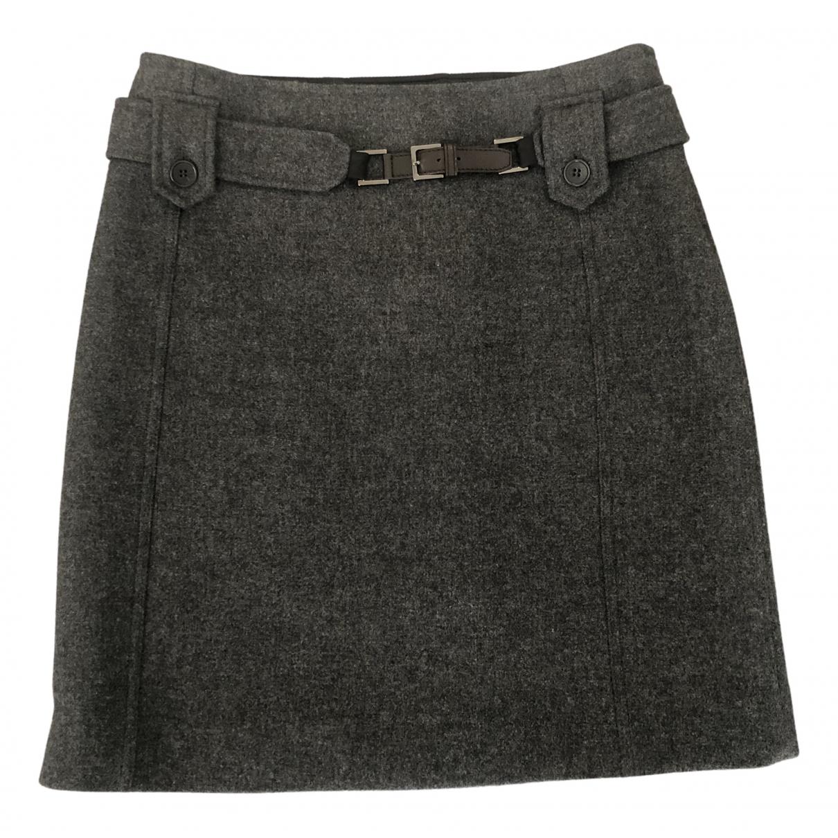 Max Mara 's N Grey Wool skirt for Women 42 FR