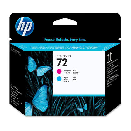 HP 72 C9383A Original Magenta and Cyan Printhead