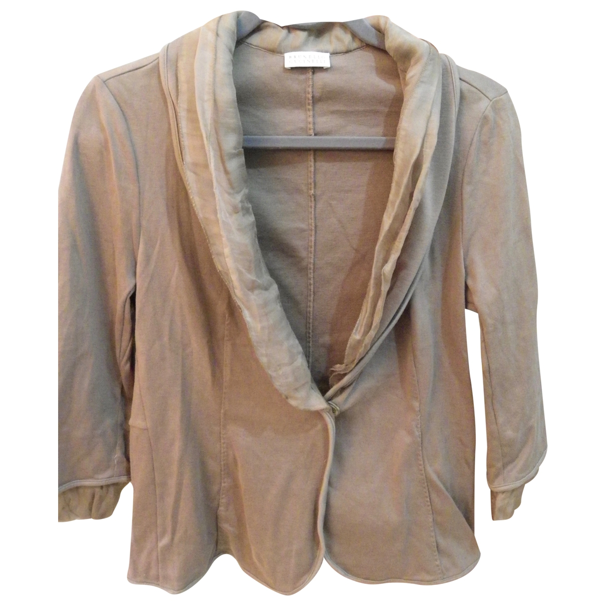 Brunello Cucinelli \N Beige Cotton jacket for Women 40 FR