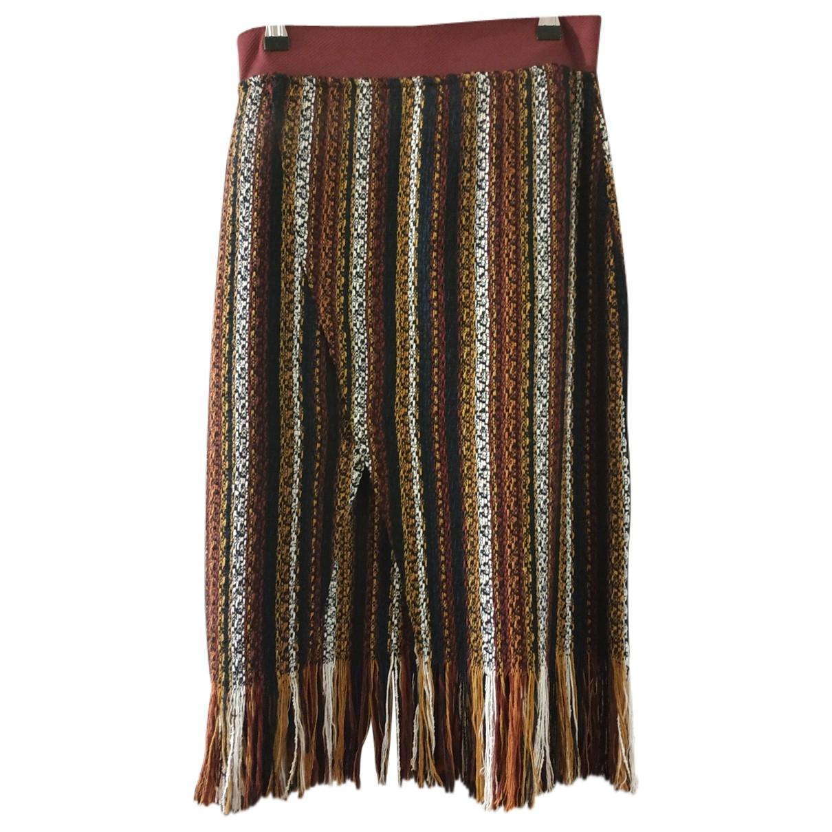 Zara - Jupe   pour femme en tweed - multicolore