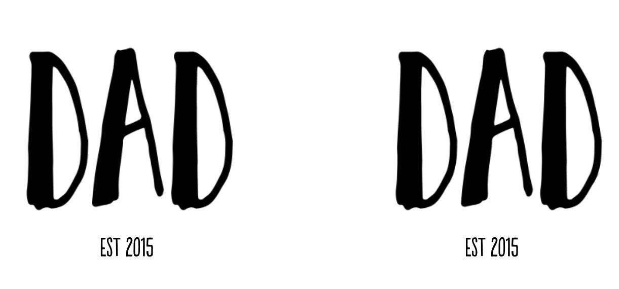 Non-Photo 11 oz. Black Accent Mug, Gift -Big Dad Type