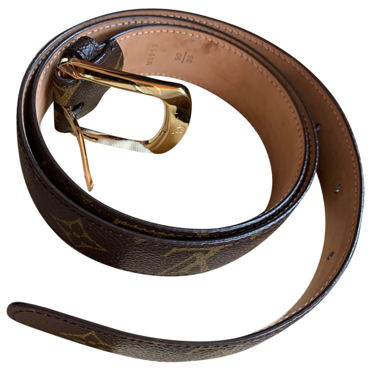 Louis Vuitton \N Brown Cloth belt for Women 90 cm