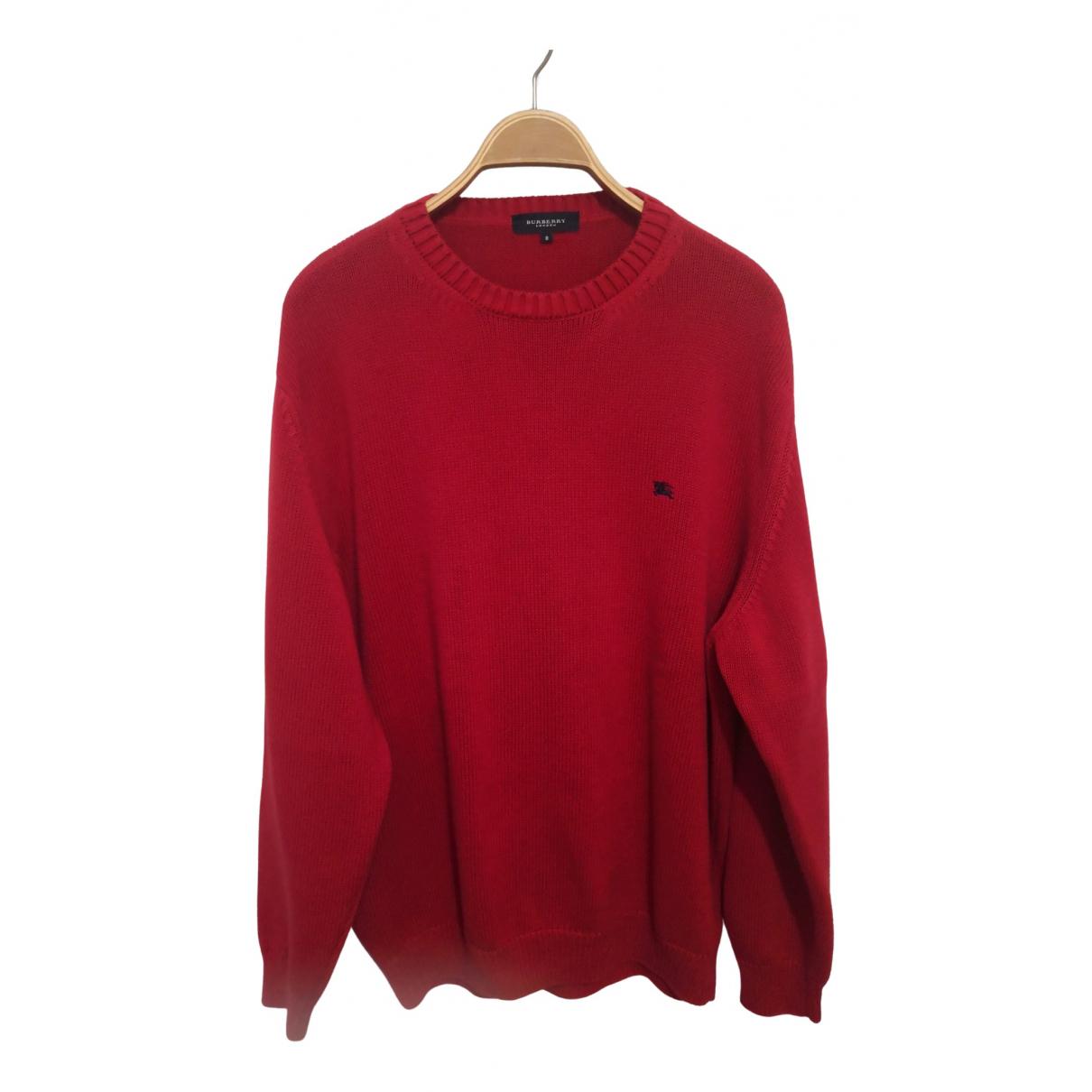 Burberry - Pulls.Gilets.Sweats   pour homme en coton - rouge