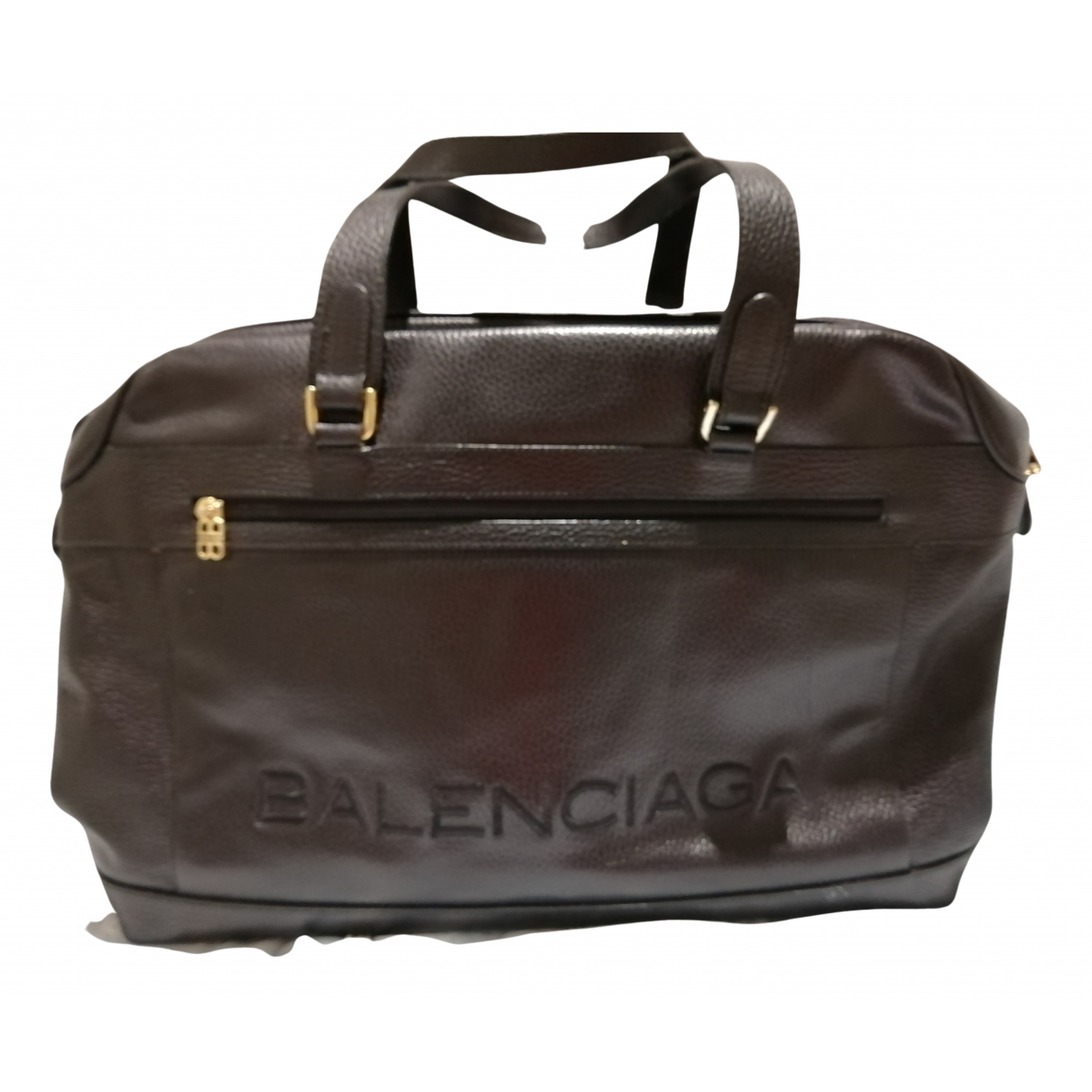 Balenciaga N Black Leather Travel bag for Women N