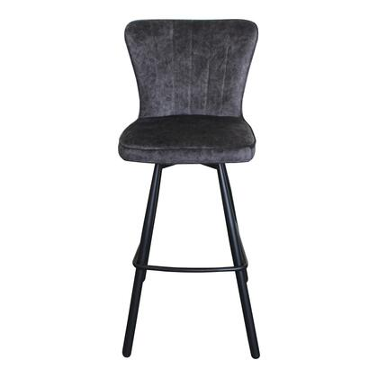 Sonnet Collection UU-1012-15 Bar Stool with Metal Legs in Gray