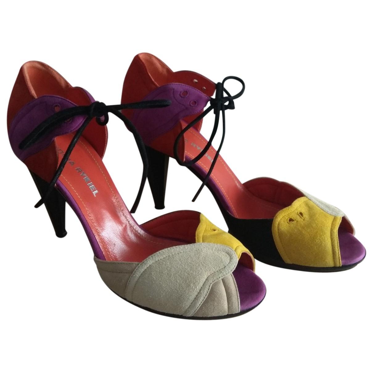 Sonia Rykiel - Sandales   pour femme en suede - multicolore