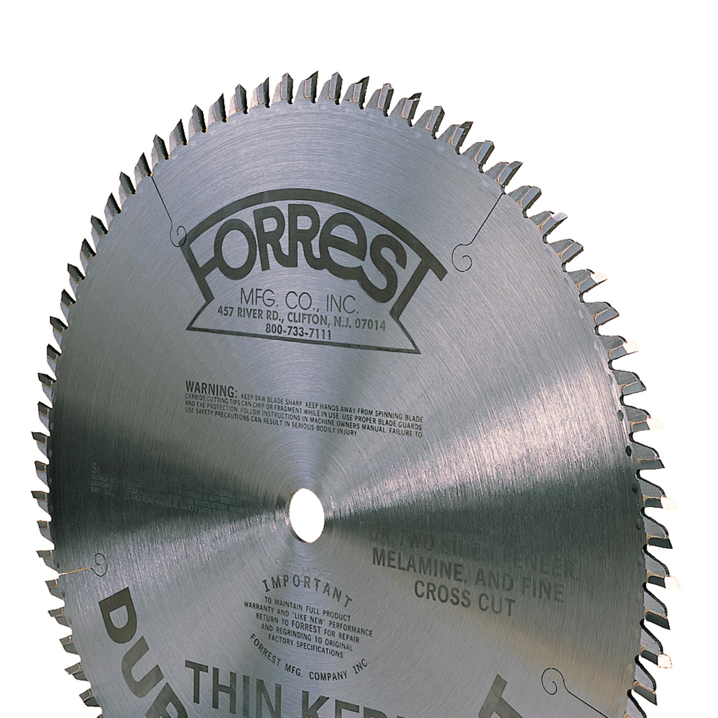 Forrest DH10807100 Duraline Hi-A/T Saw Blade, Thin-Kerf, 10