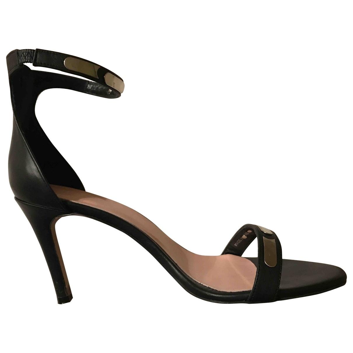 Ikks - Sandales   pour femme en cuir - noir