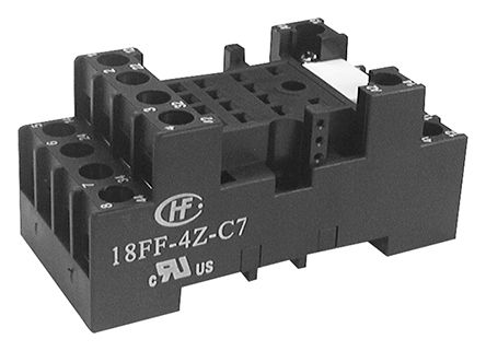 Hongfa Europe GMBH 14 Pin Relay Socket, DIN Rail for use with HF18FF & HF18FH Series Relays