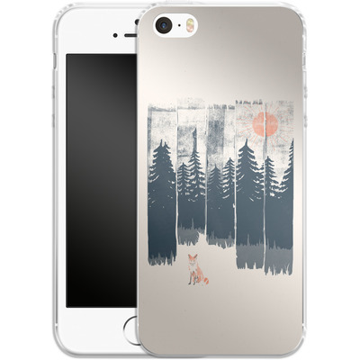 Apple iPhone SE Silikon Handyhuelle - Fox in the wild von ND Tank