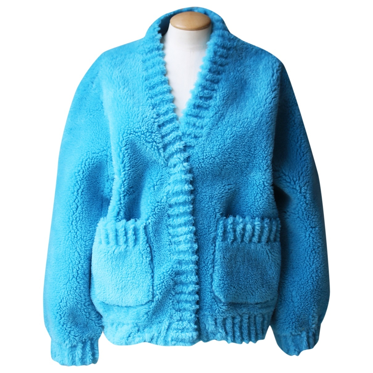 Popski London - Pull   pour femme en laine - bleu