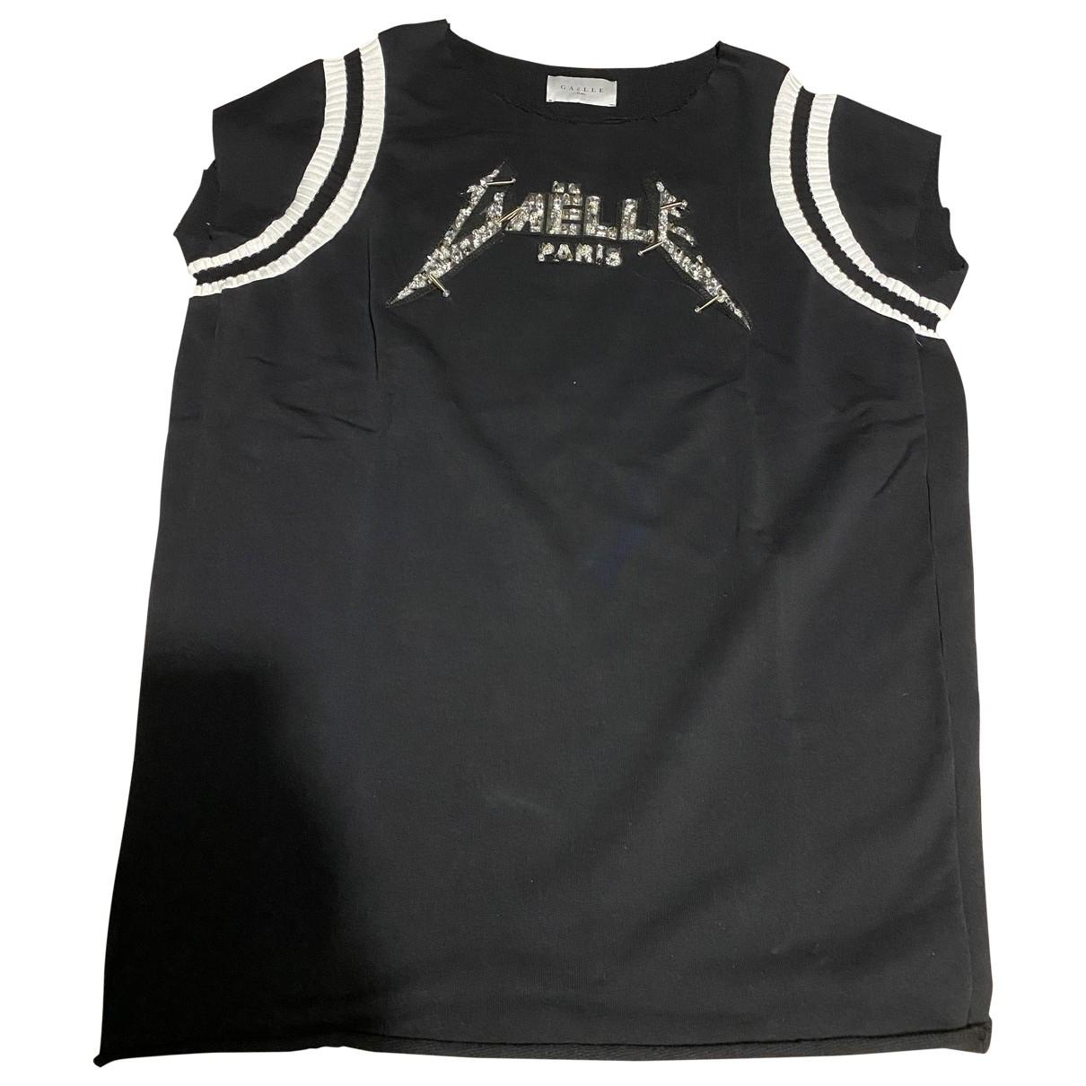 Gaelle Paris \N Black Cotton Knitwear for Women 2 0-5