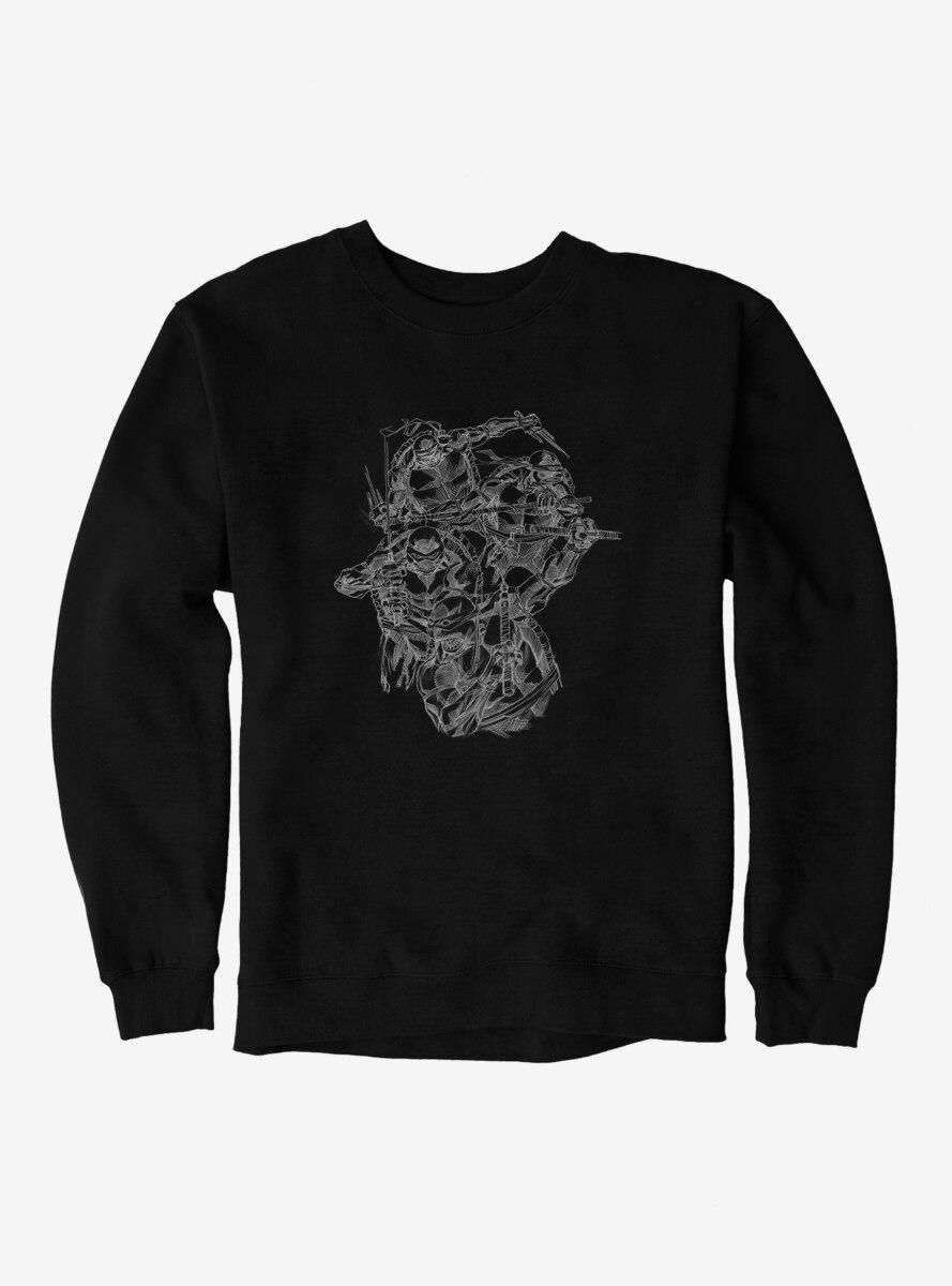 Teenage Mutant Ninja Turtles Group Outline Sweatshirt