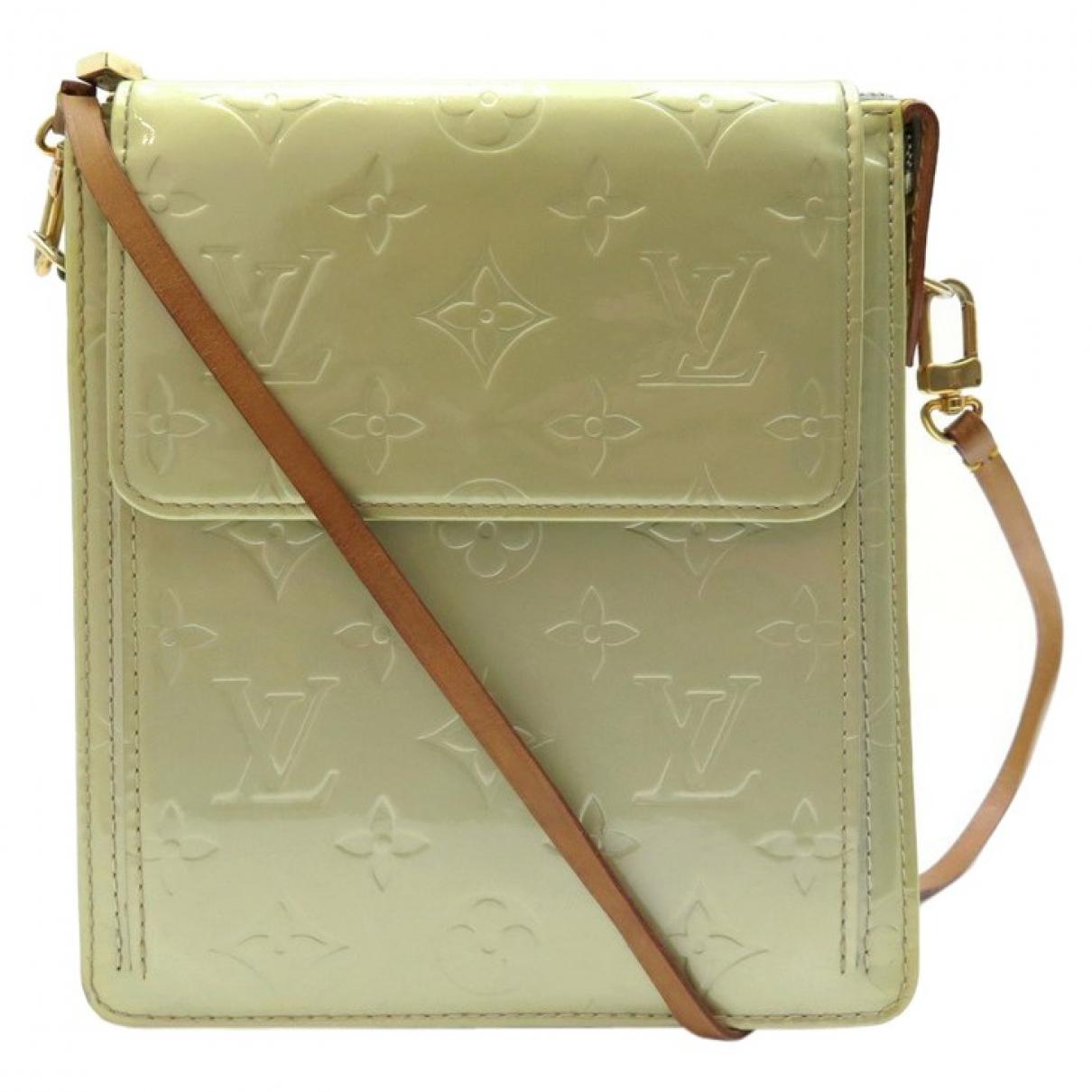 Louis Vuitton - Sac a main Mott  pour femme en cuir verni - vert