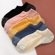 5pairs Color Block Socks