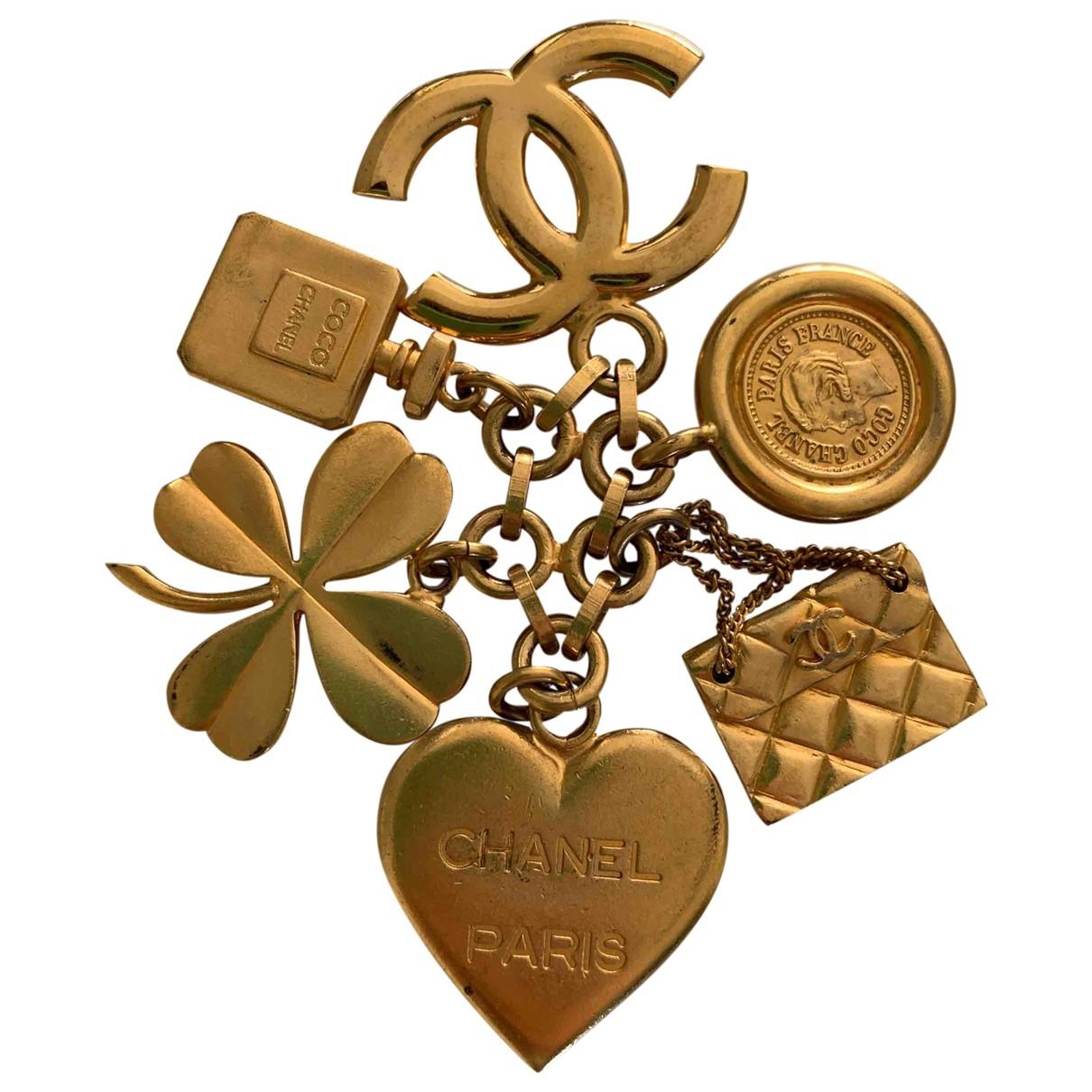 Chanel \N Brosche in  Gold Vergoldet