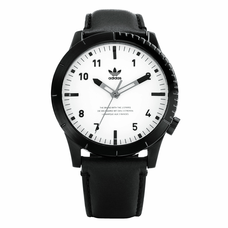 Adidas Men's Cypher Lx1 Z06 005-00 Black Leather Quartz Fashion Watch