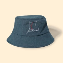Letter Graphic Bucket Hat
