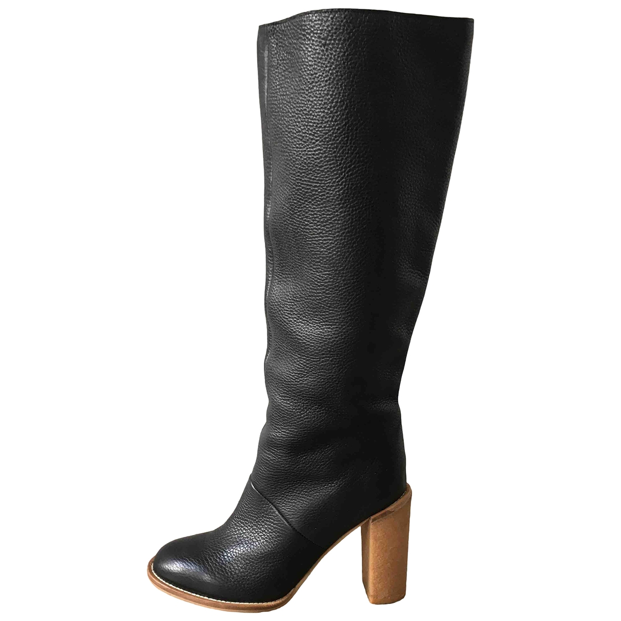 See By Chloé \N Black Leather Boots for Women 39.5 EU