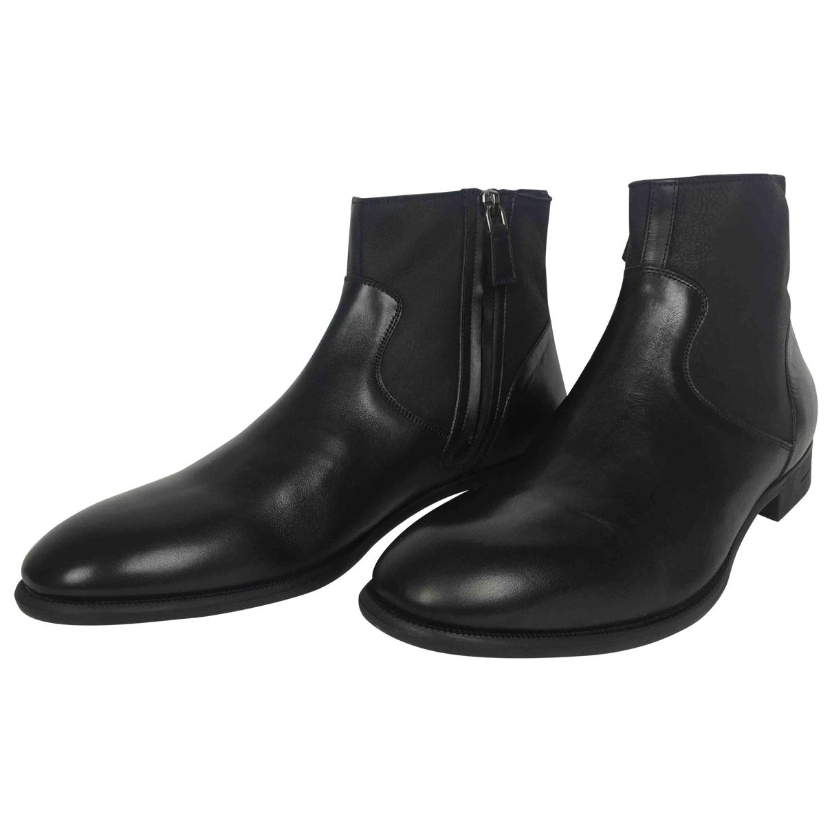 Ermenegildo Zegna \N Stiefel in  Schwarz Leder