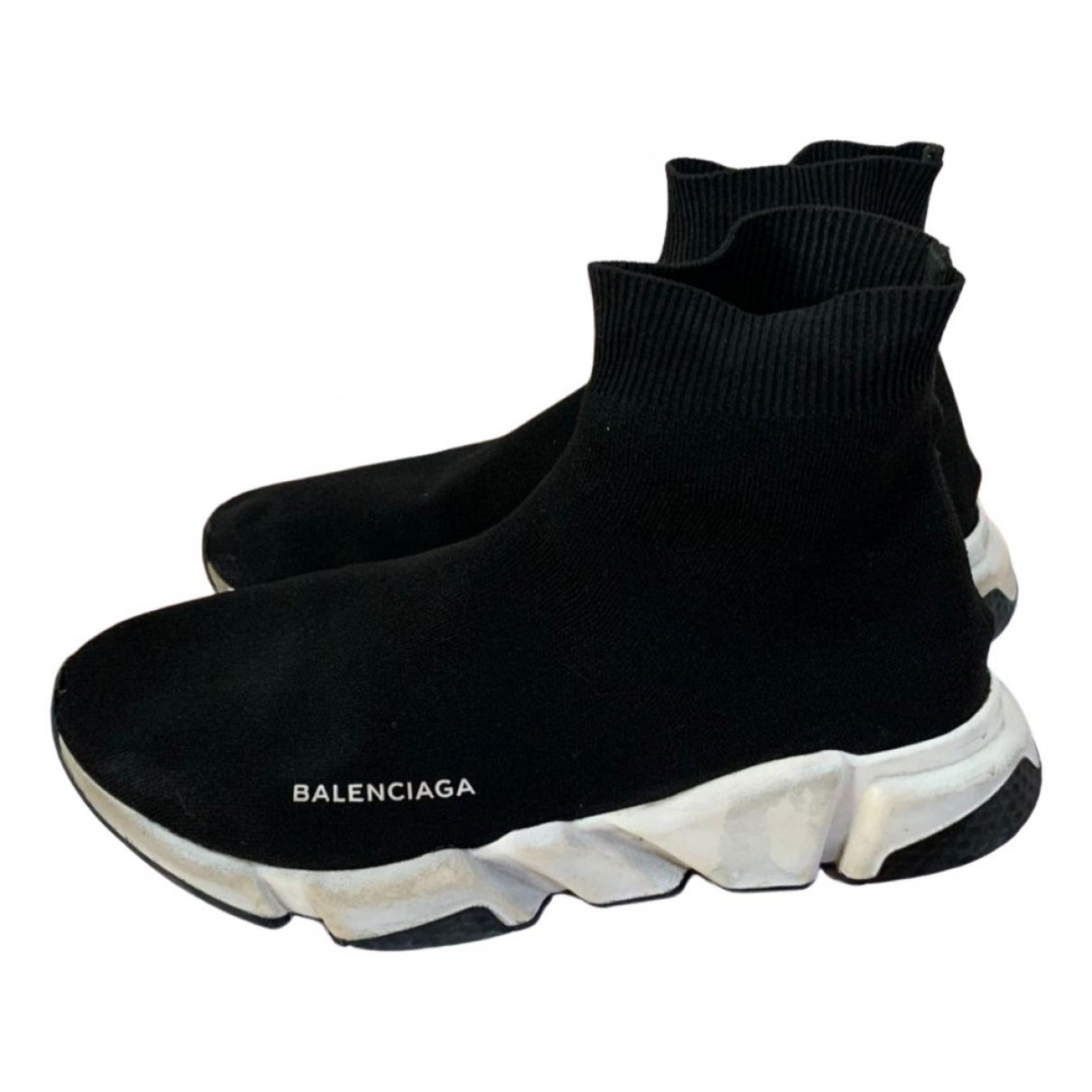 Balenciaga Speed Black Cloth Trainers for Men 42 EU