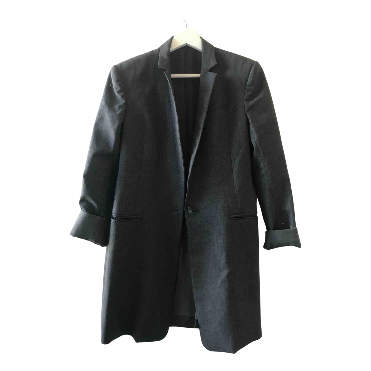 Theory \N Anthracite Wool jacket for Women 40 IT
