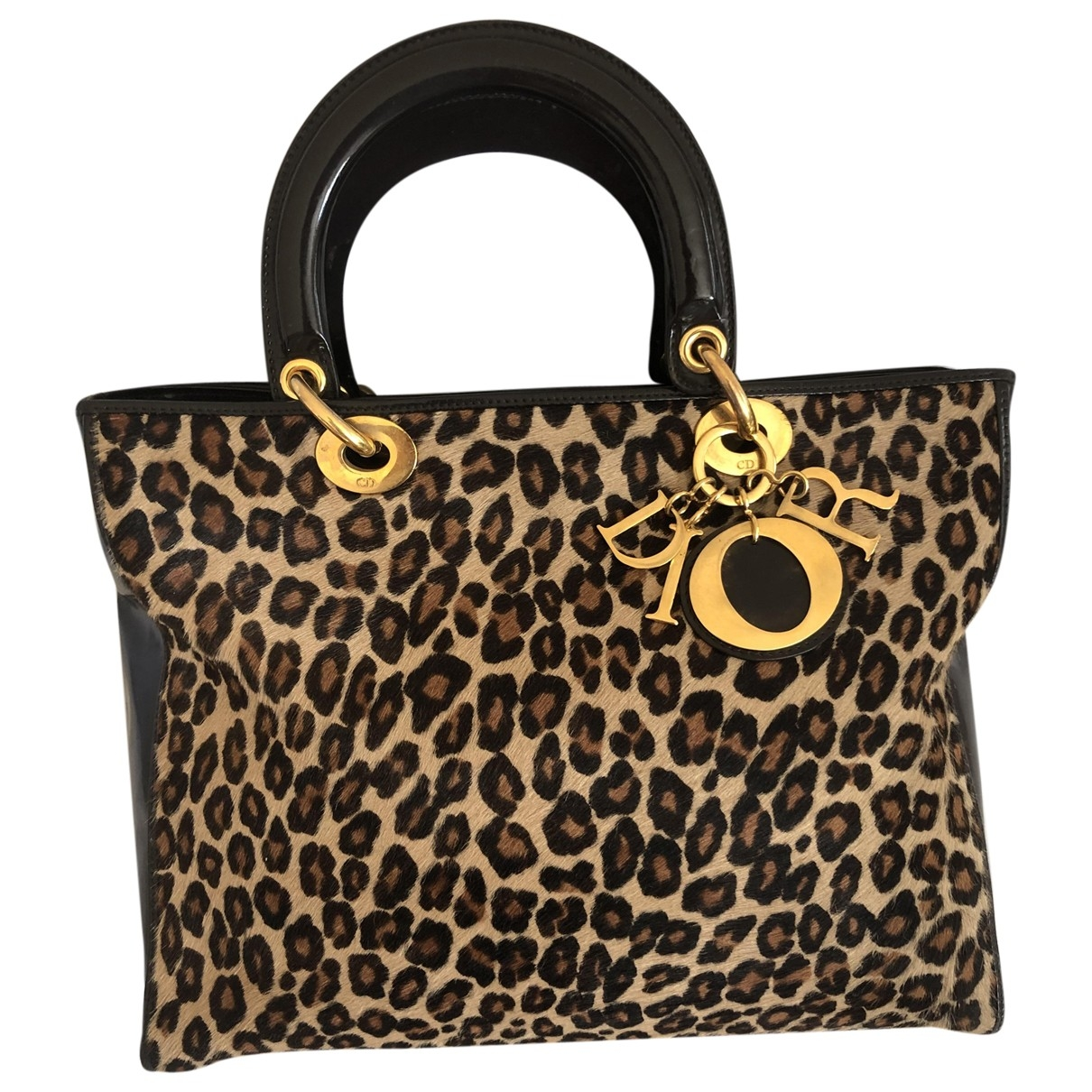 Dior Diorissimo Handtasche in  Braun Kalbsleder in Pony-Optik