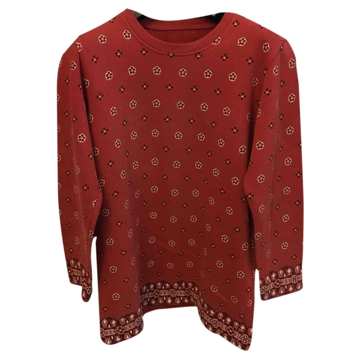 Moschino Cheap And Chic - Pull   pour femme en coton - bordeaux