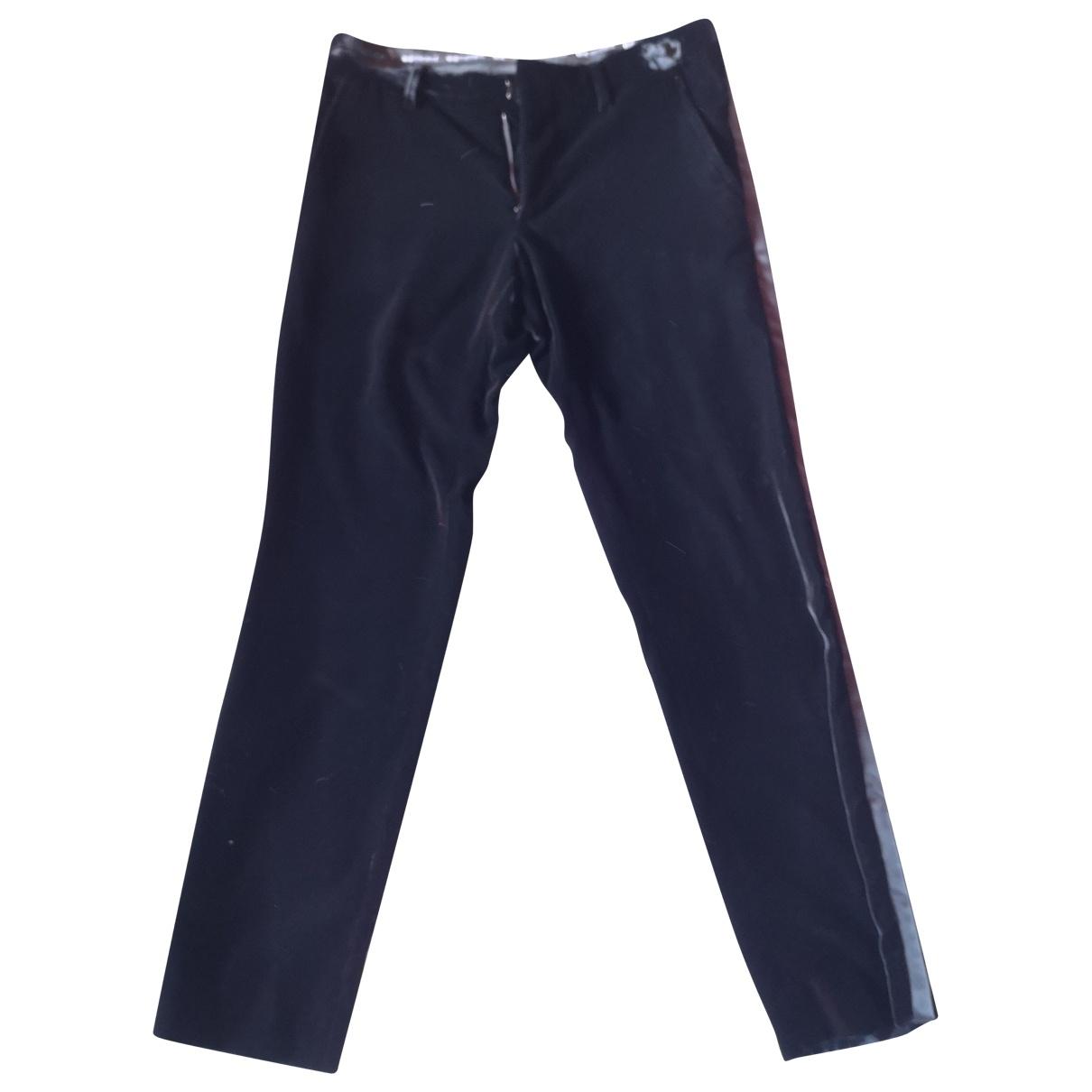 D&g \N Black Velvet Trousers for Men 44 IT